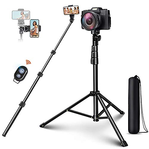 """Selfie Stick Tripod, ELEGIANT 51"""" Extendable Cell Phone Tripod Stand with Bluetooth Remote Compatible with iPhone 12 11PRO XS Max XS XR X 8P Android, DSLR, Gopro, for Selfies/Vlogging/Live Streaming"""