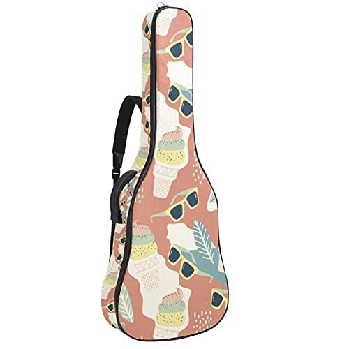 Bolsa de guitarra acústica impermeable para guitarras mochila gruesa suave acolchada clásica funda para guitarra helada y gafas