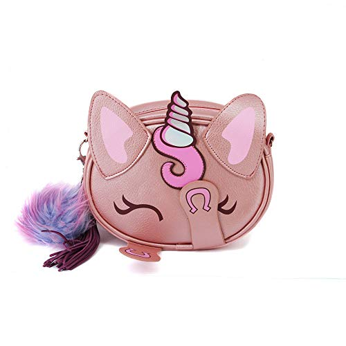 Oh My Pop! Pop! Unicorn-bolso Shy Umhängetasche, 18 cm, Pink (Rosa)