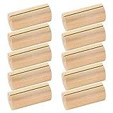 STOBOK 10 stücke Holz Kartenhalter Rustikale Holz Kartenhalter Tischnummer Halter Hochzeit Tischkartenhalter Foto Stehen für Hochzeitsfeier