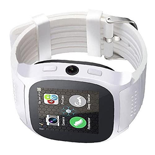 YepYes Smart Watch con la cámara Bluetooth Smart Band Support Sim TF Card Call Sports Pedómetro para teléfonos Blanco