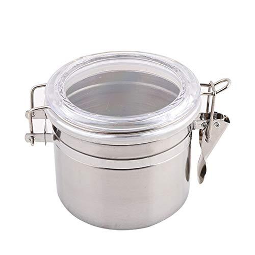Contenedor de almacenamiento de acero inoxidable para granos de café de cocina sellado frasco de almacenamiento para frijoles, harina y azúcar