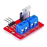 WDHDD MCU ARM Raspberry Pi電子DIYツール調光LEDの0-24VトップMosfetボタンIRF520 MOSドライバーモジュールボード-赤と青