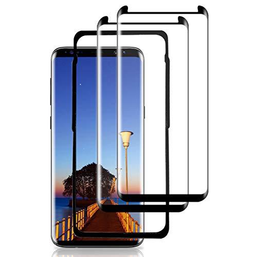 HUSHER [2 Pezzi] Vetro Temperato per Samsung Galaxy S9 Plus, Pellicola Protettiva 3D Copertura Completa, Anti-Graffi, 9H Durezza, Senza Bolle, HD Chiaro