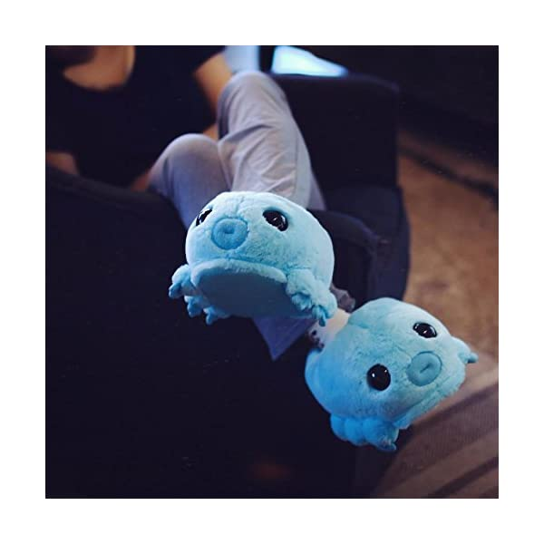Hashtag Collectibles Water Bear (Tardigrade) Slippers Blue