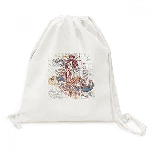 DIYthinker Geisha Kimono Fan Japan Golven Canvas Trekkoord Rugzak Reizen Shopping Tassen