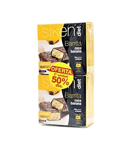 Siken diet barrita coco banana DUPLO 5 +5