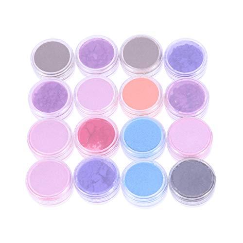 SUPVOX 16pcs Glimmer Pulver Make-up Glitter Powder Kosmetik Pigment für DIY Lidschatten Badebomben...