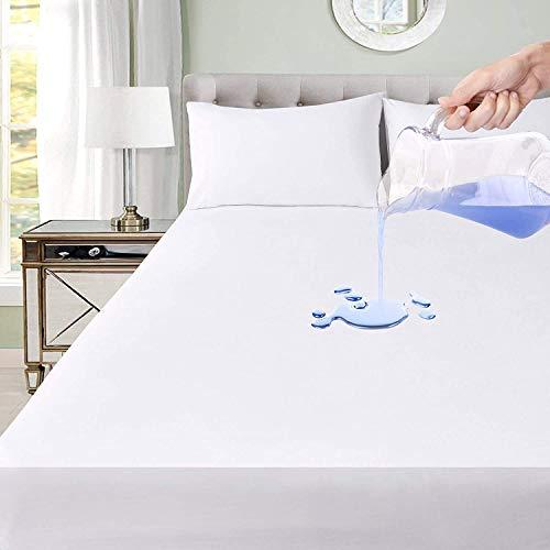 Softness - Protector de colchón impermeable 100% algodón, fabricación europea (160 x 200 cm)