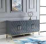 Best Master Furniture Tamari High Gloss Lacquer Sideboard/Buffet, Grey...