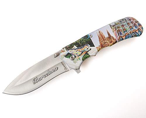 Albainox Einhandmesser Barcelona mit Holzgriff Taschenmesser Freizeitmesser