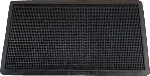 Textiles SAR Felpudo Goma Picos 35 x 60 cm, Negro