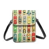 Bolso del teléfono celular, bolso pequeño de Crossbody del aparcamiento Mini bolso del teléfono celular del pasaporte del bolso con la correa ajustable del hombro