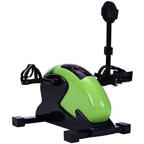 Bicicleta estática de rehabilitación, bicicleta estática para ejercitar con pedal, equipo portátil para bicicleta de fisioterapia para extremidades superiores e inferiores, resistencia ajustable