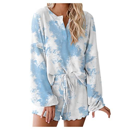 YANFANG Conjunto de Pijamas de 2 Piezas para Mujer 1 Camisa
