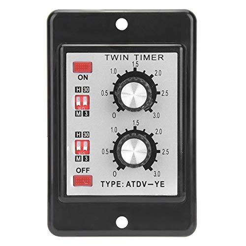 Relé de interruptor de tiempo de control de la perilla, relé de retardo de tiempo de alta precisión máximo 0.2s Tiempo de retorno de plástico hecho -10 ~ + 50 ℃