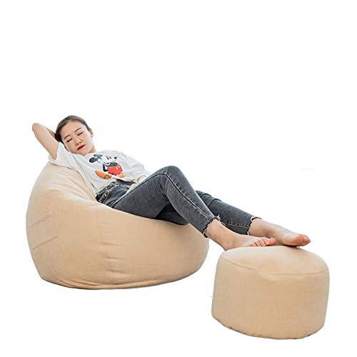 RTMX&kk Sitzsack Sofa Stuhlbezug Bean Bag Covers Stofftier-Aufbewahrung Indoor Bodenkissen Chair Sitzsäcke Möbel Kissen Sessel Ohne Füllung,Beige,M