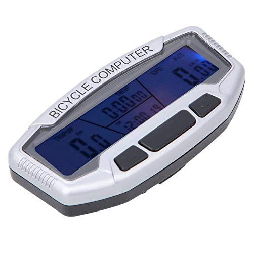 KUIDAMOS Cuentakilómetros para Bicicleta Computadora para Bicicleta Retroiluminación Azul, para Ciclismo, para...