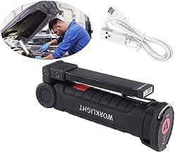 YChoice365 Camping zaklamp, USB oplaadbare werklamp Handheld zaklamp, opvouwbare auto reparatie inspectielamp met magnetis...