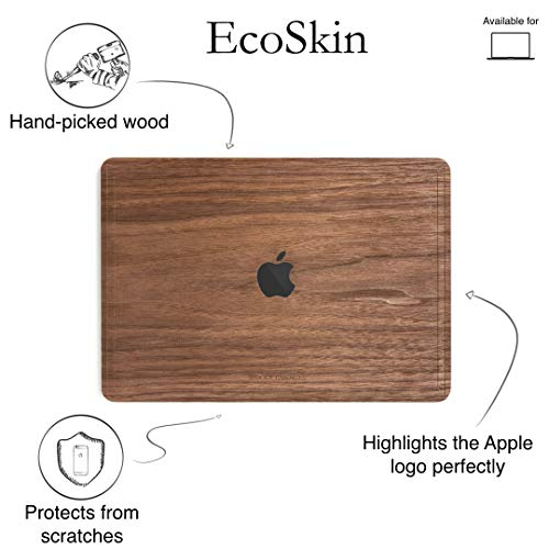 Woodcessories - Skin kompatibel mit MacBook 15 Pro Touchbar/Retina aus Holz - EcoSkin (Walnuss)