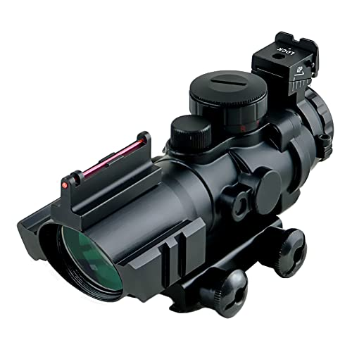 4X32LJ Cannocchiale per fucile ad aria compressa 4X32mm Rosso   Verde   Blu Illuminato a raggio rapido Reticolo Airsoft Red Dot Mirino con mirino in fibra ottica superiore