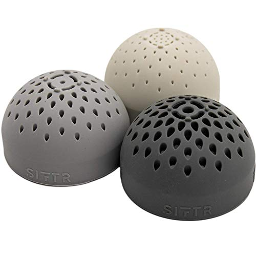 SIFTR Mono Triple Pack - Space Saving Small Sieve - Mini Can Colander and Strainer Silicone - Nesting Colander and Strainers Kitchen Gadget - Cooking Gadgets