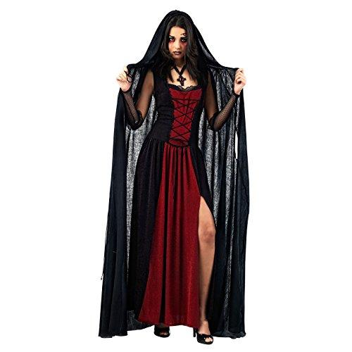 Halloween - Cape Vampire Noir - Accessoire Déguisement Femme - M