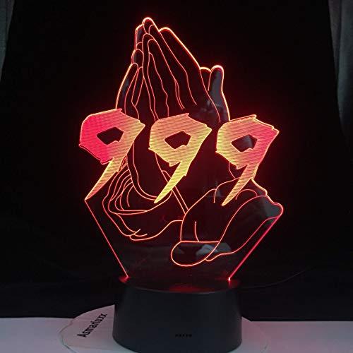 Ymxymx Juice WRLD 999 NO Vanity Crying Baby Get Molde de Pastel Young Love All Design SKU Lámpara LED 3D Everybody Everything Drop