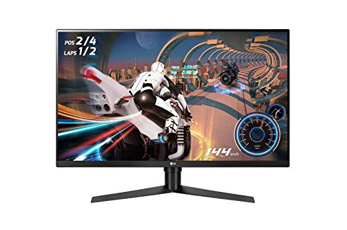 "LG 32GK850F UltraGear Gaming Monitor 32"" LED VA QuadHD HDR 400, 2560x1440, 1ms MBR, AMD FreeSync 144Hz, HDMI 2.0, Display Port 1.2, USB Hub, Uscita Audio, Stand Pivot, Flicker Safe, Nero"