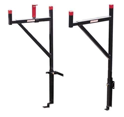 Weather Guard Truck Ladder Rack, Steel, 23 x3x57, Blk/Red
