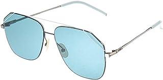 نظارات للجنسين اف اف M0044/ جي/ اس تي من فيندي، روثينيوم/ بي ال، لون ازرق، 58 للبالغين