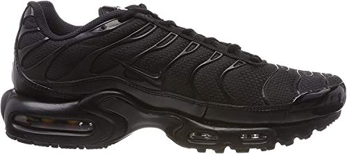 Nike Air Max Plus, Sneakers Basses Homme, Noir, 43 EU