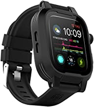 Waterproof Apple Watch Series 4/5/6/SE 44mm Case,Shockproof Impact Resistant Rugged Protective Case with Bulit-in Screen Protector and Soft Strap Bands for Apple Watch Series 4/5/6/SE 44mm