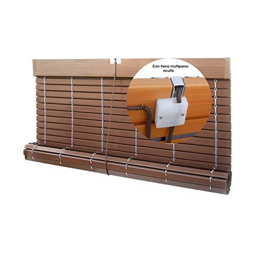 EB ESTORES BARATOS Persiana Alicantina Exterior/Persiana de PVC Exterior Enrollable. Contactaremos para su Ajuste sin Cargo. Medida Ancho X Alto. Color: Nogal. Medidas: 40cm x 60cm