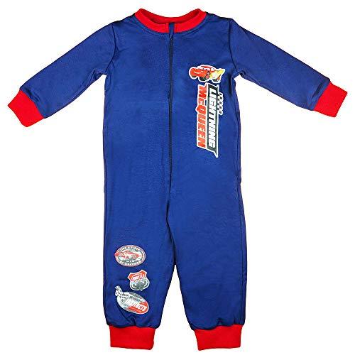 Disney Baby Kinder Cars Schlaf-Overall Pyjama Schlafanzug Junge 100% Baumwolle in Größe 98 104 110 116 122 128 Onesie mit Lightening McQueen Farbe Modell 1, Größe 98