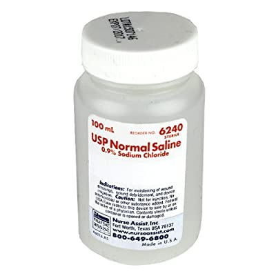 4 Pack Sterile Saline 100ml Bottle 0.9% Sodium Chloride for Wound Care