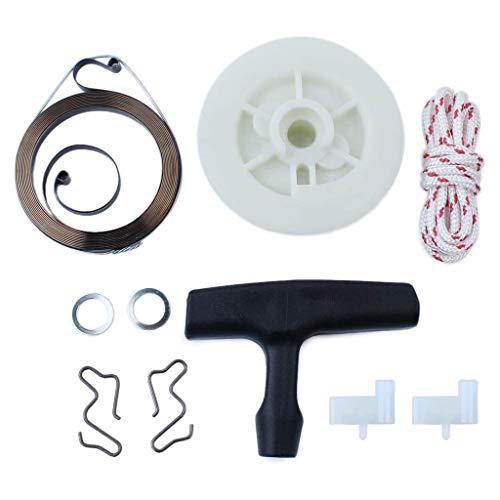 WOWOWO Kit de Cuerda de Agarre de polea de Resorte de Arranque de Retroceso para STIHL MS180 - MS250