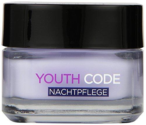 L'Oreal Paris Youth Code Nachtpflege, spendet Feuchtigkeit und glättet die Haut, 50 ml