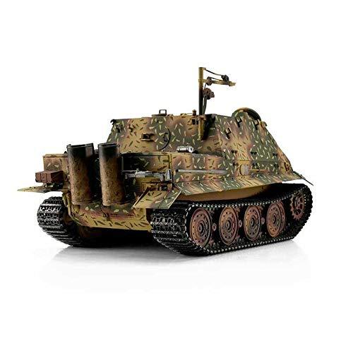 RC Auto kaufen Kettenfahrzeug Bild 6: Torro 3819-I - Sturmtiger Panzer mit Metallunterwanne IR, hinterhalt tarnlackierung*