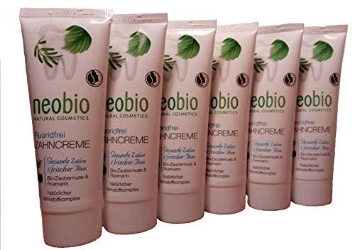 Promo-Paket! Zahnpasta ohne Fluor Neobio 75 Ml (4037067200735) Los von 6