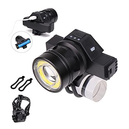 XIN HONG Impermeabile USB Ricaricabile Anteriore LED Fari Zoomable T6 COB LED Bike Light