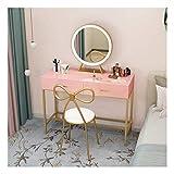 Juego de tocador de mesa para niños, de madera, color blanco, con 3 cajones (color: estilo A, tamaño: 80 x 40 x 75 cm)