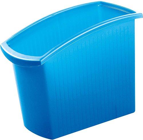 HAN Papierkorb MONDO – Schlanker Mülleimer in Transluzent Blau mit 18 L Fassungsvermögen - ideal für unter den Schreibtisch – (BxTxH): 19,4 x 45,0 x 34,5 cm