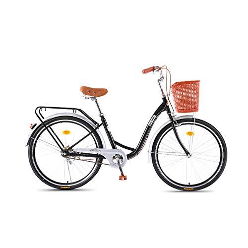 CLOUD 26 Zoll Komfort Bike, Damenfahrrad 7 Gang Hollandrad Im Retro-Design Mit Korb Citybike