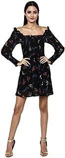 altmoda Women's Smocked Flared Mini Dress