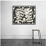 Carteles e impresiones Pintura de arte en lienzo, MC Escher Relativity Optical Illusion Dibujo Cuadros de pared para decoración de sala de estar -60x80 cm x1 Sin marco
