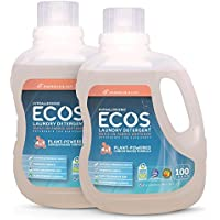 2-Pack Earth Friendly Products ECOS Earth Friendly Products ECOS 2X Liquid Laundry Detergent, Magnolia & Lily, 200 Loads, 100 Fl Oz
