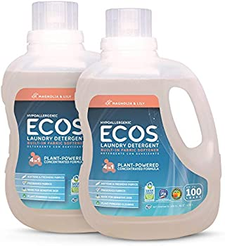 2-Pack Earth Friendly Products ECOS 2X Liquid Laundry Detergent