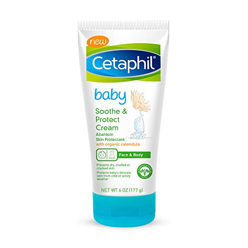 Cetaphil Baby Soothe amp Protect Cream with Allantoin Skin Protectant | 6 oz | Prevents Dry chaffed or Cracked Skin | Baby Cream moisturizes for 24 Hours | NonGreasy | Safe on All affected Areas