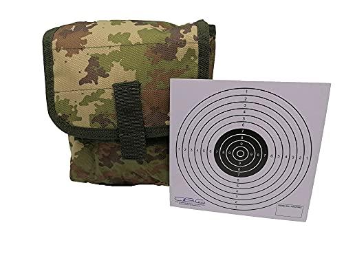 Glac Store Bolsillo táctico militar de camuflaje vegetal italiano para llevar todos los cargadores, utilidad airsoft, caza, cinturón o chaleco, enganche de muelles y diana Target de cartón